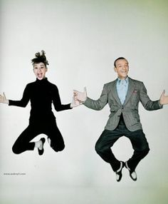 """Audrey Hepburn - loved these two in """"Funny Face"""" one of my favorite movies"""