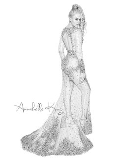 Beyonce in Givenchy from the Met GalaFashion illustration by Annabelle King