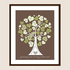 Family Tree Personalized with your Loved Ones by SprinkledJoy, $19.95