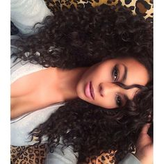 Tarica rocking her natural curls in her curled out 260G Lilly Hair in Off Black! Use code 'tarica5' to save on your set now!