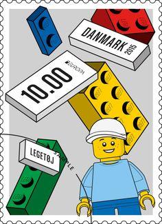 レゴ公式の記念切手。LEGOの生まれ故郷のデンマークにて発売。◆2015年早々にレゴの記念切手が発売 : ギズモード・ジャパン http://www.gizmodo.jp/2015/01/2015_9.html