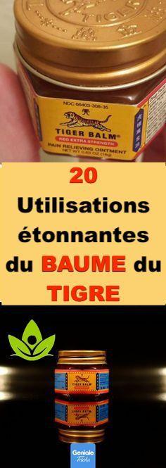Pour beaucoup de gens, le baume du tigre est un objet domestique de la petite enfance. Mais pour ceux qui sont nés après les années 1990, la petite boîte rouge est une relique historique. Le baume du tigre présente tant d'avantages. Dans la plupart des pays occidentaux, le baume du tigre est mieux connu comme « le baume essentiel». En Chine, un baume contient d'huile ou du menthol chaud ou froid et parfumé.   Dans cet article, on vous présente les tops 20 façons pour utiliser ce ménage… Tiger Balm, Coffee Cans, Sport, Drinks, Bottle, Gardens, Natural Medicine, Body Odor, Drinking