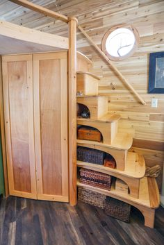 Love the curves here, corners are dangerous to adult, child, and beast! The Pinafore Tiny House - 0004.jpg