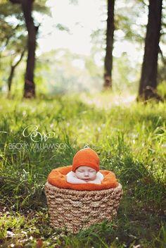 Outdoor Newborn Fall Session