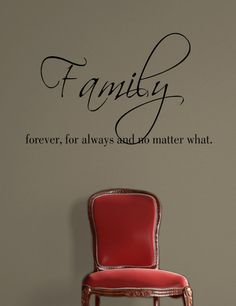 Family Wall Decal-   Family forever for Always no matter what Vinyl Wall Decal on Etsy, $32.11 CAD