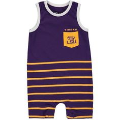 a20fc24d34d LSU Tigers Infant Striped Team Romper - Purple