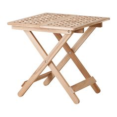 IKEA - SKOGHALL, Side table, Easy to place anywhere in your home.Easy to fold up and easy to move. Side Tables Bedroom, Glass Side Tables, Furniture Inspiration, Picnic Table, Outdoor Furniture, Outdoor Decor, New Homes, House Design, Living Room