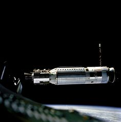 Profile of Agena Docking Target Vehicle as seen from the Gemini 8 spacecraft