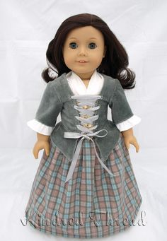 Kindred Thread Outlandish: Highland Lass Doll Clothes Pattern 18 inch American Girl Dolls | Pixie Faire