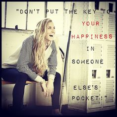 Don't put the key to happiness in someone else's pocket. Famous Quotes About Life, Life Quotes, Motivational Memes, Inspirational Quotes, Health And Wellness, Health Fitness, Key To Happiness, Someone Elses, Motivate Yourself
