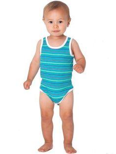 American Apparel Infant Knit Tank One-Pi...