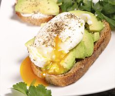 Avocado toast seems to be a go to breakfast for many people on a weight loss diet.