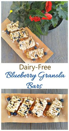 These Blueberry Granola Bars are dairy free and chock full of tasty ingredients. They make a great breakfast on the go! #DairyFreeGoodness #ad Healthy Cooking, Healthy Food, Cooking Recipes, Yummy Treats, Yummy Food, Peanut Butter Roll, Dairy Free Breakfasts, Dried Blueberries, Best Breakfast Recipes