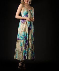 Look at this #zulilyfind! Purple Floral Maxi Dress - Women by Vasna #zulilyfinds