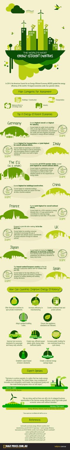 INFOGRAPHIC: The greenest countries in the world and how they score. The US isn't even among them.