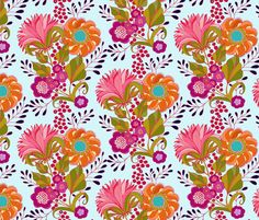 Bouquet fabric by amy_reber on Spoonflower - custom fabric