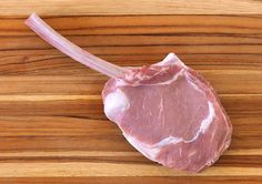 Calling all veal aficionados! There's a new cut of veal on our website. The tomahawk chop, sometimes called a lollipop chop, has a long rib bone that is frenched for elegant presentation. Veal Meat, Veal Chop, Buy Meat Online, Veal Milanese, Tomahawk Chop, Rib Bones, Veal Recipes, Rib Roast, Lamb