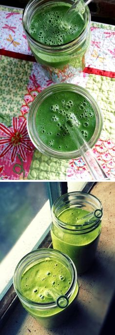 Avocado and Dandelion Leaves Detox Smoothie | Click Pic for 18 Healthy Green Smoothies to Lose Weight | Energy Smoothie Recipes for Breakfast