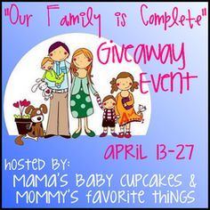 """""""Our Family is Complete"""" Giveaway! HUGE Prize worth over $1700! You DON'T want to miss this!!"""