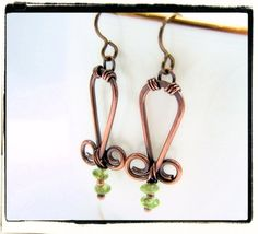 054 Green Peridot Antique Copper Wire Wrapped by FashionWire, $24.99