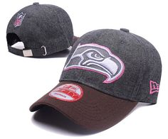 Seattle Seahawks NFL Baseball Caps Charcoal Gray/Pink Curved Brim Hats|only US$6.00 - follow me to pick up couopons.
