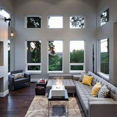 Design-Hilltop house showcasing modern elements- windows