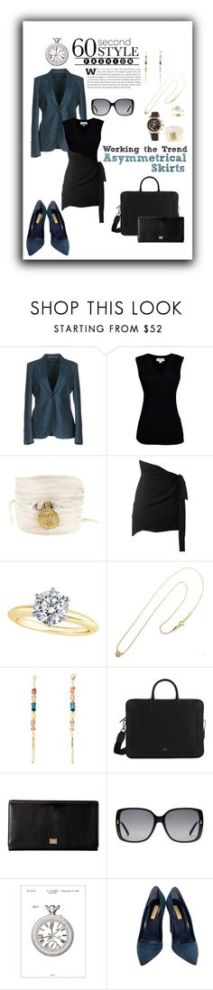 """""""Work Attire 85 : When Symmetry Doesn't Aptly"""" by katieparker3 ❤ liked on Polyvore featuring Gucci, Velvet by Graham & Spencer, Catherine Michiels, Yves Saint Laurent, Tiffany & Co., Natasha Collis, Dolce&Gabbana, Bomedo, Dee Keller and Versace"""