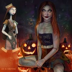 Sally from The Nightmare Before Christmas by Tati Moons Modern Disney Characters, Female Characters, Cartoon Characters, Disney Drawings, Cartoon Drawings, Cartoon Art, Cartoon Ideas, Realistic Cartoons, Realistic Drawings