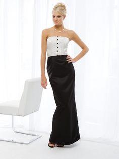Mermaid Satin Tuxedo Ruffle Accents Bodice Strapless Neckline Bridesmaids Dresses (KIB234117)