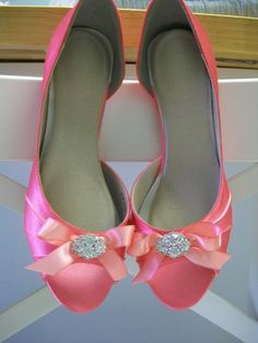 Coral Shoes Wedding Shoes Crystals Swarovski Crystal by Parisxox, $144.00 -  visit the outlets at Brides book for more great deals from retailers from around the globe at http://www.brides-book.com