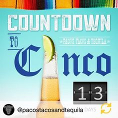 Let's get in the spirit for Cinco de Mayo @pacostacosandtequila. Join the festivities for daily specials and features! #12days #SpecialtyShopsDiscover http://snip.ly/iwrmd