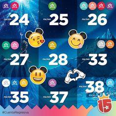 Comenzó la cuenta regresiva de #Enjoy15!  Se acerca #Disney!  #violetaJ16 #fucsiaJ16 #verdeJ16 #turquesaJ16 #coralJ16 #purpuraJ16 #rojoJ16 #esmeraldaJ16 #rosaJ16 #doradoJ16 #plateadoJ16 #naranjaJ16 #blancoJ16 #azulJ16 #amarilloJ16 #lilaJ16 #celesteJ16 están por cumplir su sueño!!!