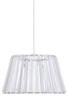 Easy fit glass shade, lovely.