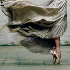 Pointe shoes, flowy skirt
