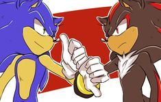 Sonic and Shadow Shadow The Hedgehog, Sonic The Hedgehog, Sonic & Knuckles, Mundo Dos Games, Sonic Funny, Sonic Franchise, Creation Art, Shadow Pictures, Sonic Fan Characters