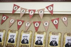 Western Themed Cub Scout Blue & Gold Banquet at Kara's Party Ideas. See more at karaspartyideas.com!