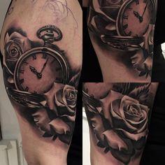 #realistic #blackandgrey #pocketwatch and #rose in progress #fresh done at #0711nadelspiel with #worldfamousink and #cheyennetattooequipment #radtattoos #tattoo #tattoofreakz #tattoos_alday #tattooistartmag #tattoostuttgart #tattoos_of_instagram #ink #inked #inkfreakz #inkaddicts #stuttgart #sullenartcollective #supportgoodtattooers #getmoreink #blackandgreytattoo #bnginksociety #skinart_mag