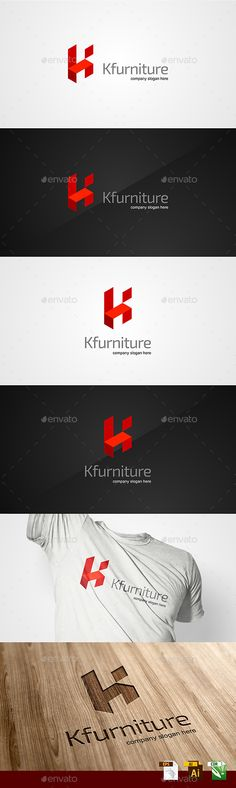 Kfurniture / K Letter  Logo Template — Vector EPS #clean #corporative • Available here → https://graphicriver.net/item/kfurniture-k-letter-logo-template/14295668?ref=pxcr