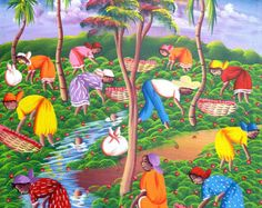 Haitian Canvas Painting Art of Haiti Canvas Art by TropicAccents