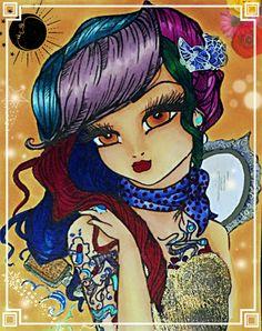 Colored by, Cristina B. Line art by Hannah Lynn