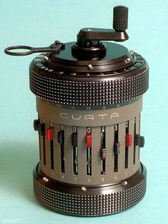 Curta calculator (my parents use one)