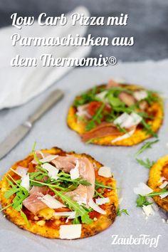 Low Carb Pizza mit Parmaschinken aus dem Thermomix® – Foto: Désirée Peikert