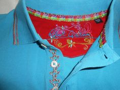 ROBERT GRAHAM Polo Shirt Men Size XL Pique Turquoise Blue Short Sleeve Cotton…