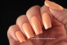 Models Own - Peach Melba #nailart #nails #nailstagram #bblogger #beauty #nailpolish #manicure #nailpolish #glitter #bling #sparkle #nailit