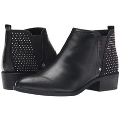 G by GUESS Royy Women's Pull-on Boots ($79) ❤ liked on Polyvore featuring shoes, boots, ankle booties, ankle boots, short boots, studded booties, stacked heel ankle boots, slip on booties and faux boots