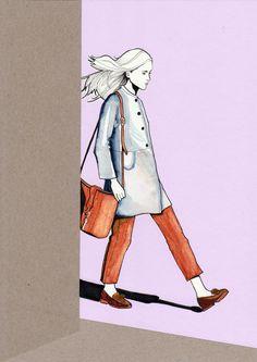 Illustration of Dutch model Iekeline Stange by Daphne van den Heuvel