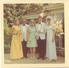 Old Vintage Photograph Wedding Party Photo Gorgeous Bride & Groom
