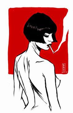 fille à la cigarette