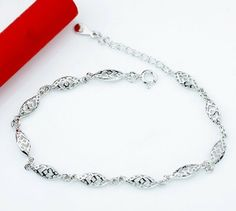 925 Sterling Silver Fashion Bracelet with Platinum Plated