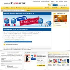 Internetseite PAYBACK-Integration Deutsche Post Leserservice / Leistungen: Konzeption, Technische Umsetzung / Techniken: PHP, Zend Framework, XHTML, CSS, Javascript